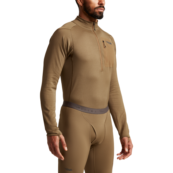 Millbrook_LEAF_Program_SITKA_SOF_10068_CY_Mens_Core_Midweight_Zip_T_Coyote_Front_Side